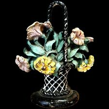 Hubley Cast Iron Flower Door Stop