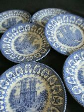 Churchill Blue & White Royal Heritage Westminster Abbey pattern Side plates x 6