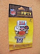Super Bowl 41 XLI On the Fifty Champion pin dangle dangling Colts vs Bears