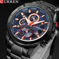 CURREN Business Watch Men's Watches Wristwatches Casual Boy Sports Waterproof