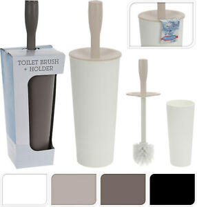 Stylish Plastic Bathroom Toilet Brush Holder With Toilet Brush Set Free Standing