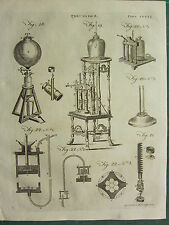 1797 GEORGIAN PRINT ~ PNEUMATICS ~ AIR PUMP VARIOUS APPARATUS EQUIPMENT