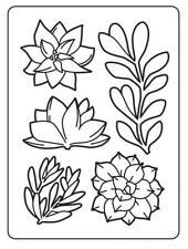 SUCCULENTS 4.25 x 5.75 Darice Embossing Folder Background Plant Cactus 30023122
