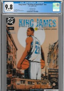 King James King of Basketball 1 DC Comic 2004 RC CGC 9.8 1st Lebron Jock VARIANT