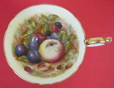 VINTAGE AYNSLEY ENGLAND BONE CHINA TEA CUP ~ FRUIT DESIGN ~