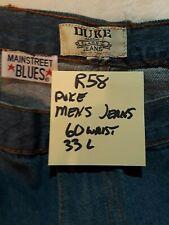 R58 Big & Tall Mens Duke Jeans Size 60 Inch Waist 33 inch Length - Brand New
