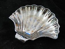 Scalloped Sea Shell Carnival Glass Vintage Bowl Soap Dish Collectible Decor