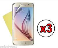 3x HQ CRYSTAL CLEAR SCREEN PROTECTOR COVER FILM GUARD FOR SAMSUNG GALAXY S6