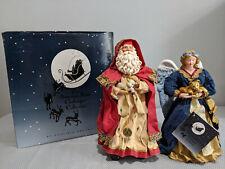 "Clothtique Possible Dreams ""Peaceable Kingdom"" #15061 Santa & Angel 1997 Vgc 10"""
