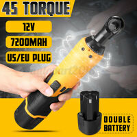 12V Wireless Rechargeable Electric Ratchet Wrench Torque 45 US/EU Plug