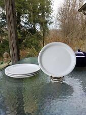 """4 DINNER bistro PLATES set lot White FIESTA WARE 10.5"""" NEW"""