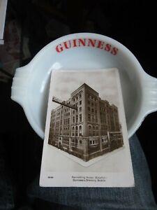 brewery guinness ashtray & brewery postcard naze glass broxbourne hertfordshire