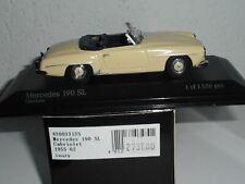 Minichamps 1/43 MERCEDES 190 SL cabriolet  1955 N° 344 de 450 vendu