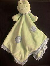 Baby Ganz Green FROG Security Blanket Lovey LoviePolka Dot