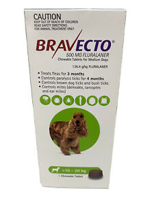 Bravecto Chew for Dogs 10-20kg - 1 Pack 3 Months