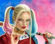 """Calandra Fantasy Art! """"Harley with Joker"""" Signed 11x14 Print"""