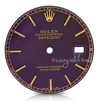 For Rolex Mens Datejust Purple Color Dial Index Marker 36mm Two-Tone Watch