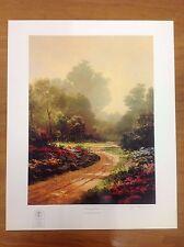 "Thomas Kinkade ""Morning Lane"" 20x16"" Hand Signed Sample Print"