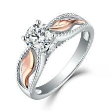 Beautiful Guardian Angel Ring Angel Wings and Solitaire Rhinestone