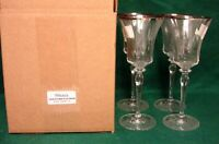 Mikasa JAMESTOWN PLATINUM Water Goblets SET OF FOUR More Items Avail MINT IN BOX