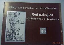 Luther/Einsiedel *Gedanken über die Frondienste* Kreis Geithain