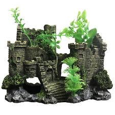 Slocme Aquarium Castle Decorations - Fish Tank Leaves Castle Ornament
