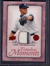Joba Chamberlain 2008 Timeless Moments Game-Used Card TM-34 jhmm