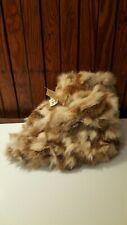 Vintage Rabbit Fur Slippers Etell Women's Size 7
