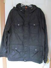 NWT Men's Docker's 100% Nylon hooded 6 pocket fleece lined Black Size M $160