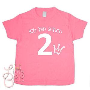 Geburtstagsshirt - ich bin schon 2 - Wahl: Motiv, Wunschname, Farbe * NEU *