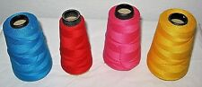 LOT OF 4  COTTON THREAD SPOOLS~VARIOUS COLORS & BRANDS~USED