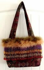 Artifacts Mary Jean Collection Bucket Purse Bag Feathers Beaded Boutique