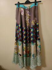 SUNDANCE CATALOG Floral Print Silk A-Line Maxi Skirt Size S