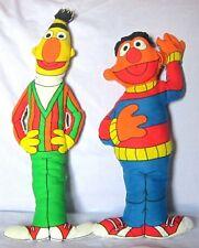 Sesame Street Bert and Ernie Cloth Dolls Muppets  18 1/2 inch