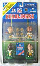 HEADLINERS NFL Green Bay Packers 4 Figure Pack Brooks, Chmura, Favre, Blanc