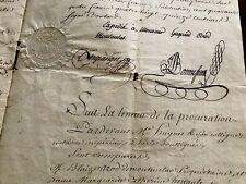 1810 Napoleon Era Marriage Contract