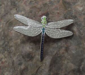 American Emperor Hawker Dragonfly Amazing Flying Insect Brooch Pin Badge
