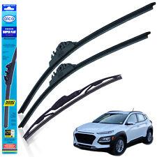 "Hyundai Kona 2017-on wiper blades alca SUPER FLAT 26""16"" + rear 10""C"