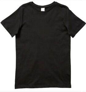 Men's Plain Blank High Quality Thick T-shirt Black sizes XS - XXXL New Bulk