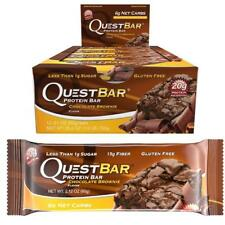 NEW Quest 20g Protein Bar Chocolate Brownie 12pk Gluten-Free 6-Net Carb Snack