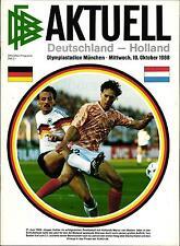 WM-Qualifikation 19.10.1988 Deutschland - Niederlande / Holland in München