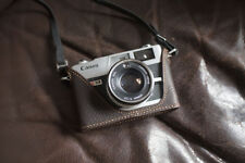 Genuine Real Leather Half Camera Case Bag Cover for Canon QL17 GIII G3 Brown