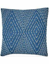 LUCKY BRAND $ Blue SOUTACHE 20 X 20 Square Decorative Pillow IKAT D14