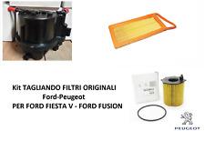 Kit TAGLIANDO FILTRI ORIGINALI  FORD  PEUGEOT  PER FIESTA V 1.4 TDCI