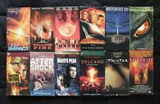 Lot of 12 Disaster Action Movies VHS - 90s  Dante's Peak Twister VolcanoTycus