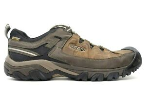 Keen Mens Brown Targhee III Leather Outdoor WP Low Hiking Shoes Size US 13 EU 47