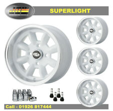 7x 13 Superlight Ruedas Ford clásico conjunto de 4 Blanco