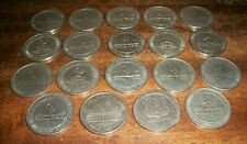 19 Vintage $1 Casino Chips Tokens-Cactus Pete's-Boomtown-Club 93, 1979-1987-1994
