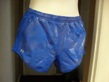 Women's Under Armour Fly-By Running Shorts Large Shiny Blue NWT $30