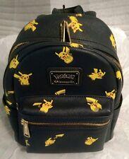 New Loungefly Pokemon Pikachu Mini Faux Leather Backpack Bag